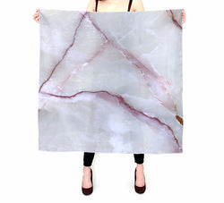 Purple Streaked Marble Silk Habotai Scarf Marbled Wrap Marble Print Silk Scarf Square Beach Coverup Headscarf Shawl Wrap