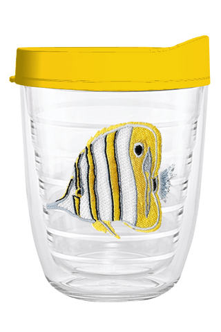 Angel Fish Yellow 12oz Tumbler, Tumbler - Smile Drinkware USA