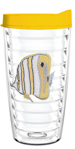 Angel Fish Yellow 16oz Tumbler, Tumbler - Smile Drinkware USA