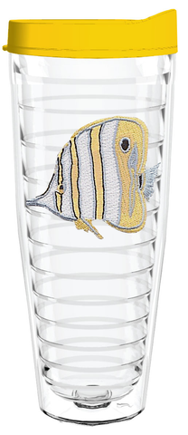 Angel Fish Yellow 26oz Tumbler, Tumbler - Smile Drinkware USA