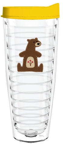 Bear Felt 26oz Tumbler, Tumbler - Smile Drinkware USA