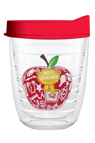 Best Teacher Apple 12oz Tumbler, Tumbler - Smile Drinkware USA