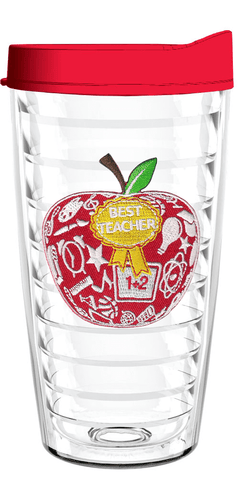 Best Teacher Apple 16oz Tumbler, Tumbler - Smile Drinkware USA