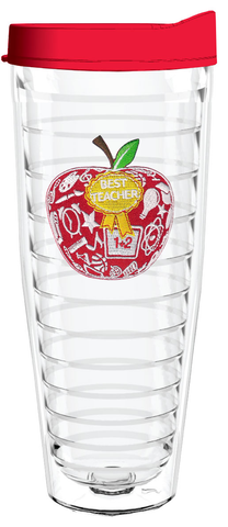 Best Teacher Apple 26oz Tumbler, Tumbler - Smile Drinkware USA