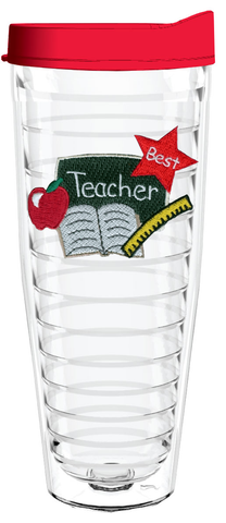 Best Teacher Chalkboard 26oz Tumbler, Tumbler - Smile Drinkware USA