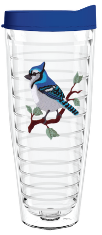 Blue Jay 26oz Tumbler, Tumbler - Smile Drinkware USA