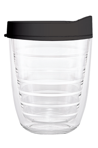 Clear - 12oz Tumbler with Black Lid
