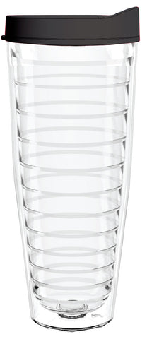 Clear - 26oz Tumbler with Black Lid