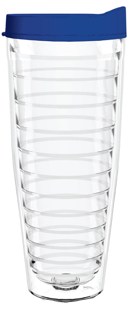 Clear Blue Lid 26oz Tumbler, Tumbler - Smile Drinkware USA