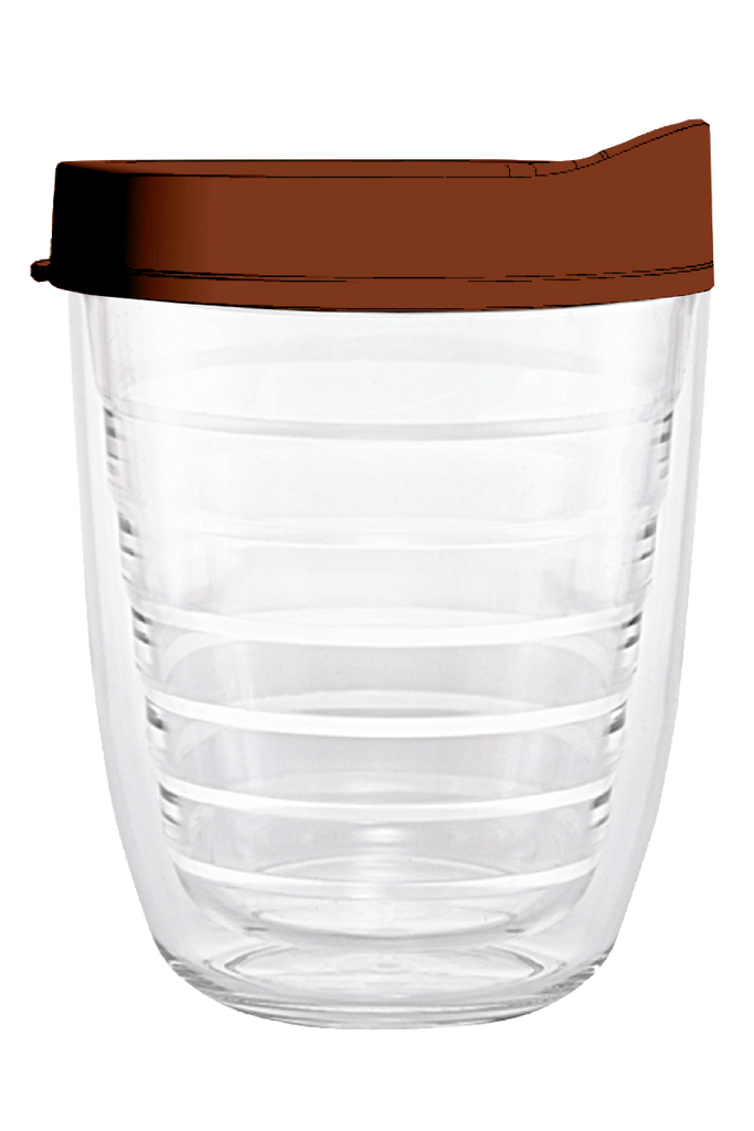 Clear Brown Lid 12oz Tumbler, Tumbler - Smile Drinkware USA