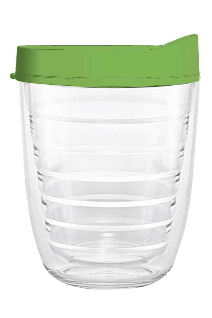 Clear Lime Green Lid 12oz Tumbler, Tumbler - Smile Drinkware USA