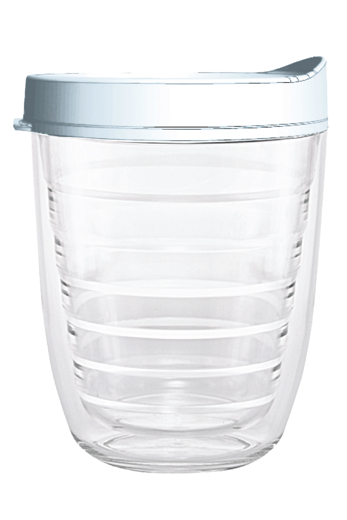 Clear White Lid 12oz Tumbler, Tumbler - Smile Drinkware USA