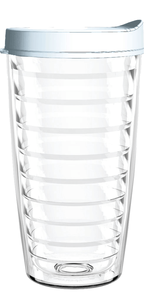 Clear White Lid 16oz Tumbler, Tumbler - Smile Drinkware USA
