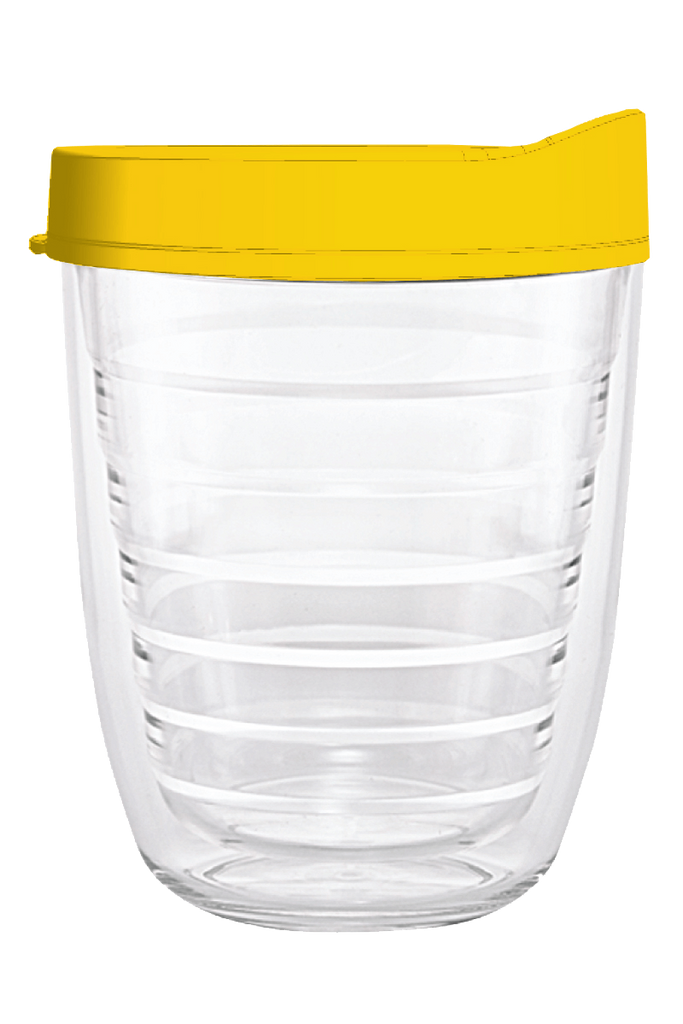 Clear Yellow Lid 12oz Tumbler, Tumbler - Smile Drinkware USA