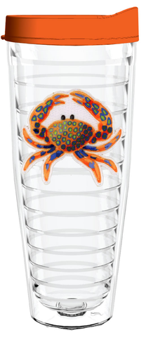 Crab 26oz Tumbler (Tracey Gurley Designs), Tumbler - Smile Drinkware USA