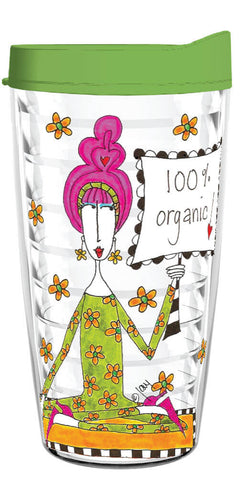 100 Percent Organic 16oz Tumbler - Smile Drinkware USA
