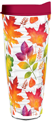 Fall Leaves Watercolor 26oz Tumbler