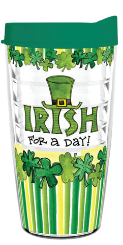 Irish For A Day 16oz Tumbler - Smile Drinkware USA