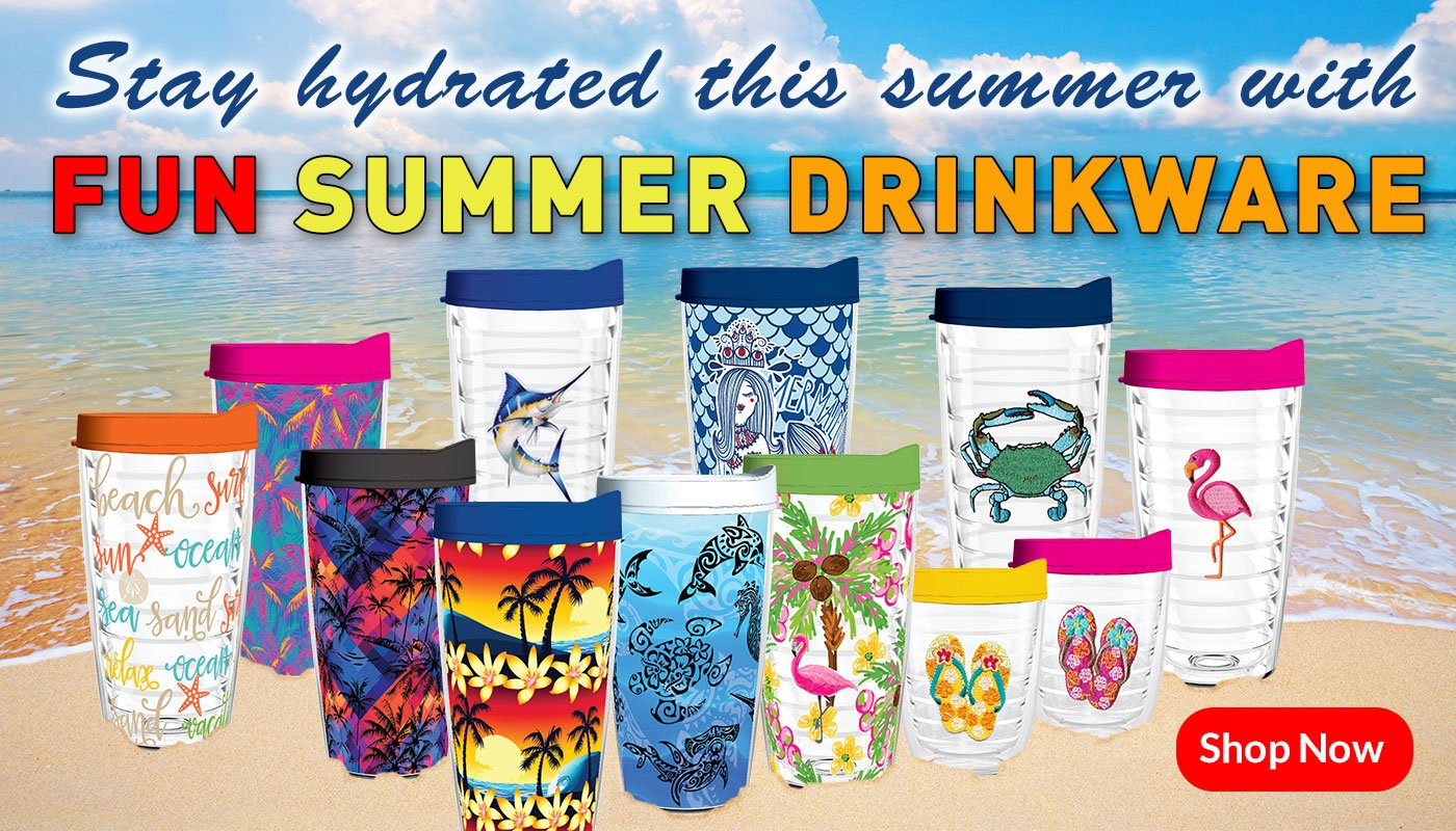 fun summer tritan tumblers drinkware