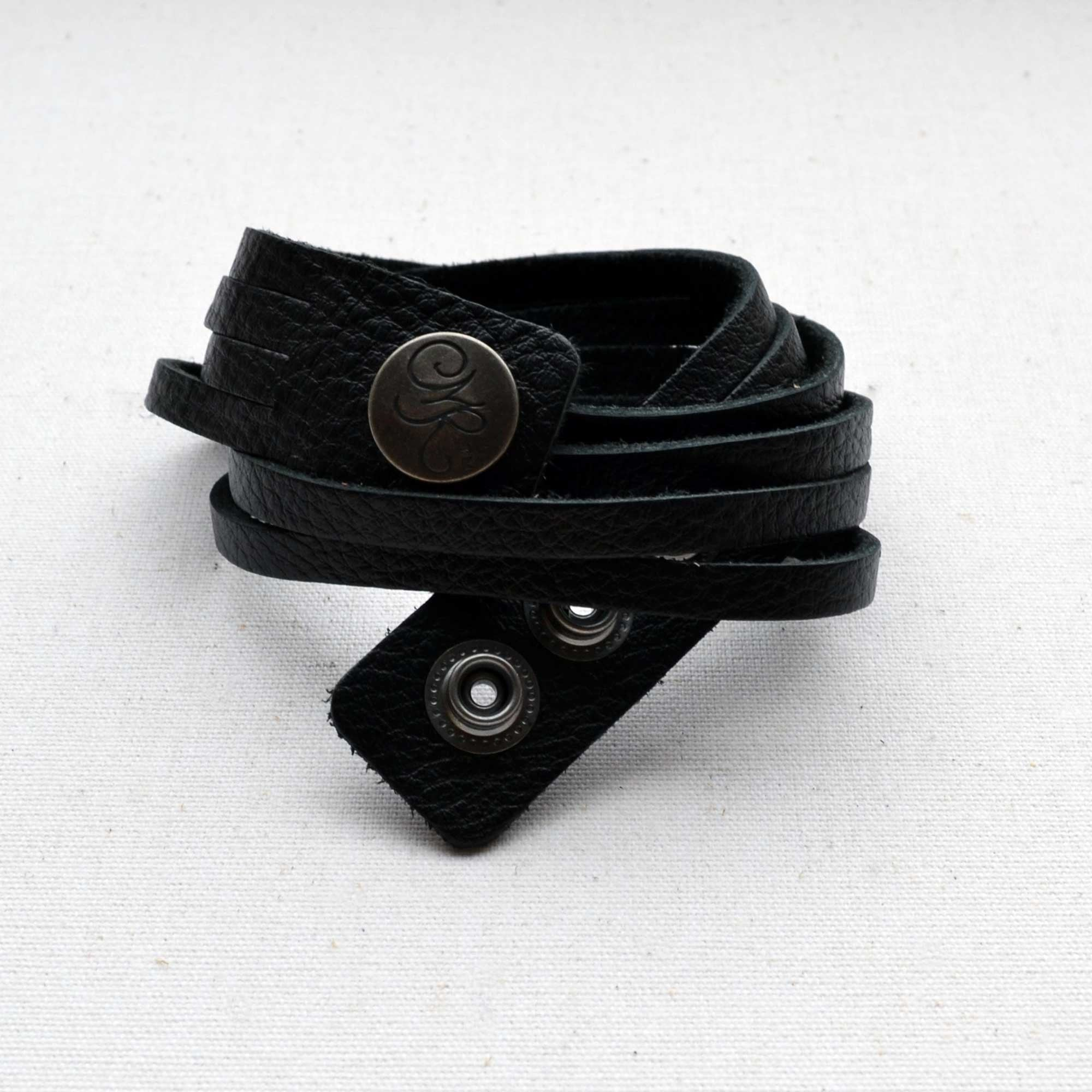 Leather, Handmade Wrap Around Unisex Cuffs