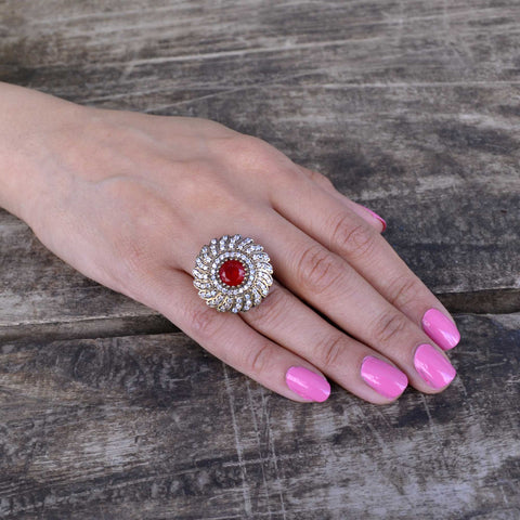 Ruby Topaz Ring