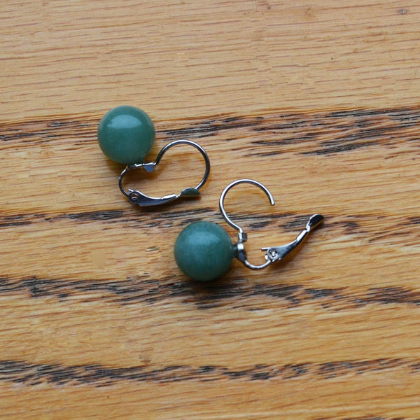 Jade Earrings - Naadz Jewelers
