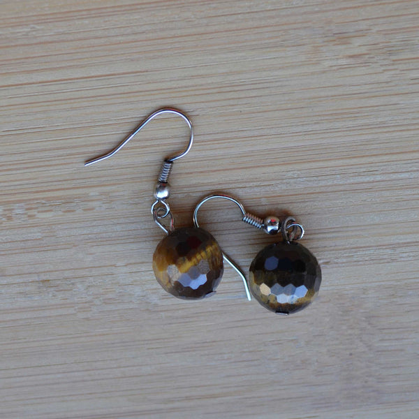Tiger Eye Earrings - Naadz Jewelers