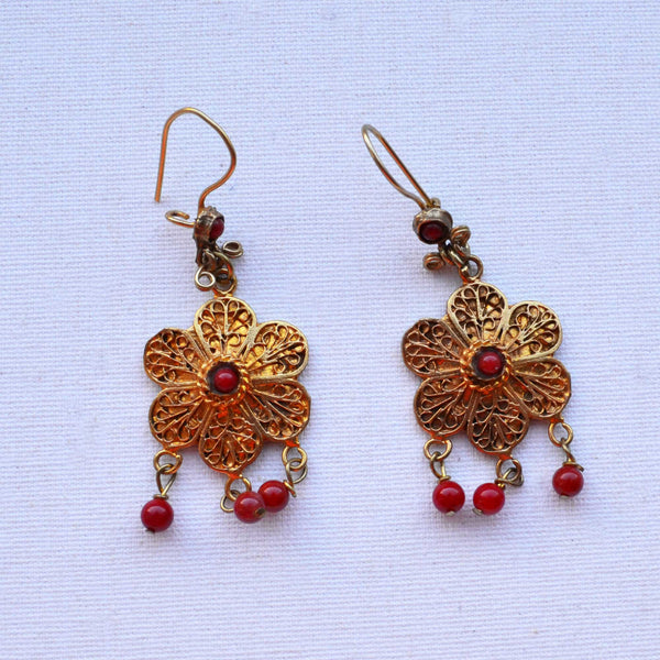Arabian Flower Drop Earrings