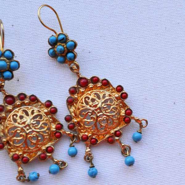 Arabian Golden Drop Earrings