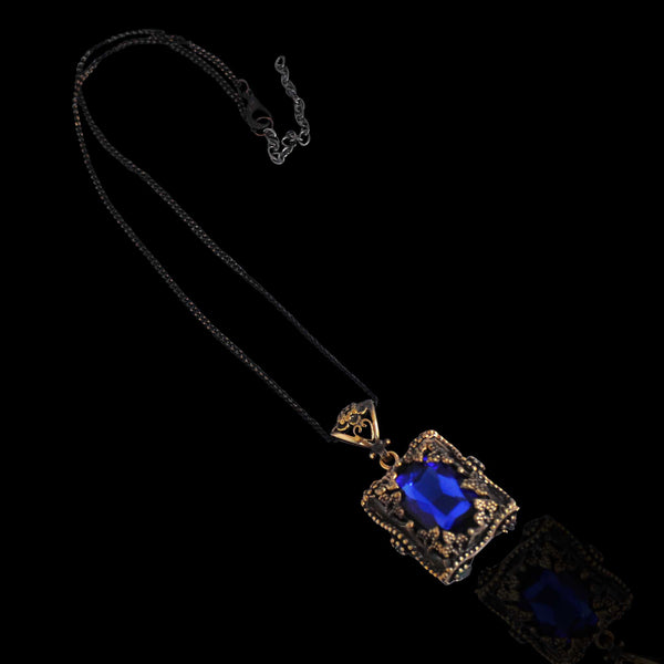 Glass Pendant in Blue - Naadz Jewelers