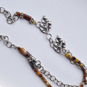 Jasper Gemstone Silver Necklace