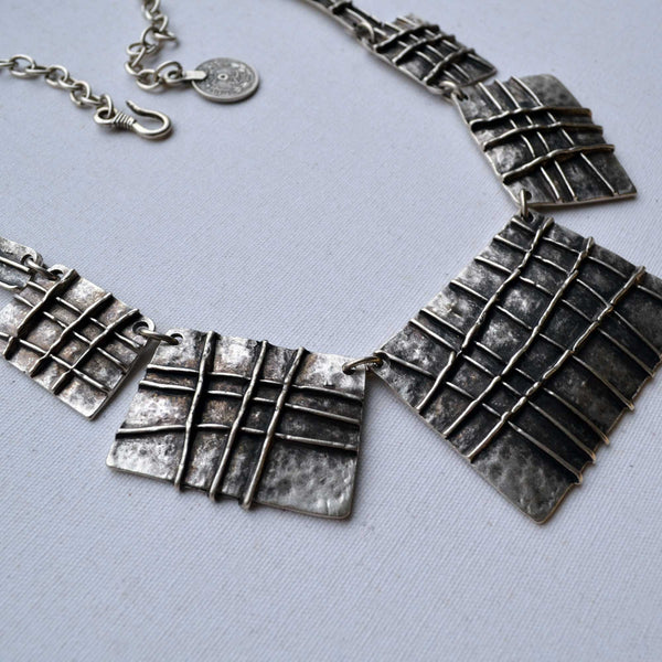 Squared Silver Necklace