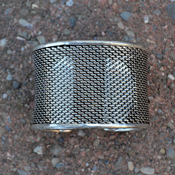 Ethno Mesh Antique Cuff - Naadz Jewelers