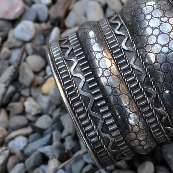 Vintage Tribal Enchanting Cuff - Naadz Jewelers