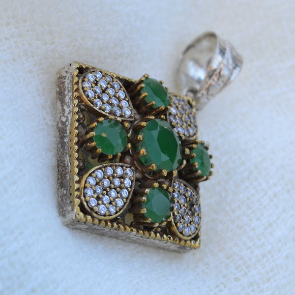 Mughal Antique Carved Pendant - Naadz Jewelers