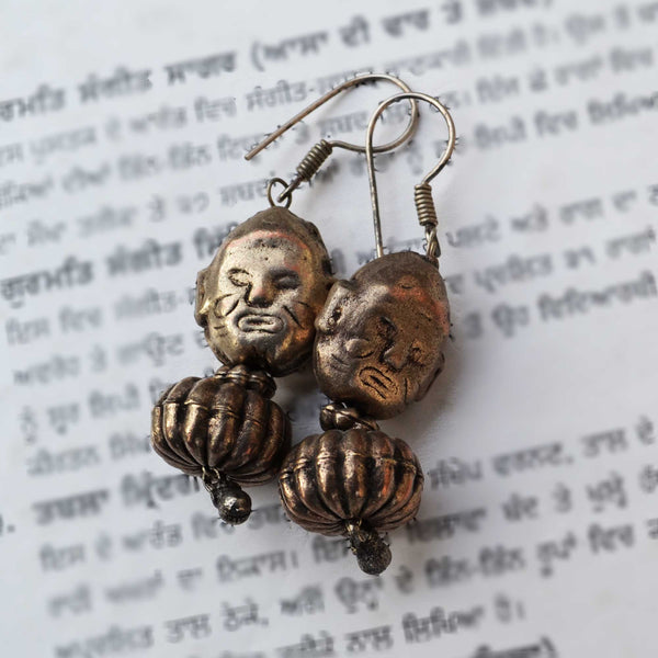 Copper Tibetan Earrings - Naadz Jewelers