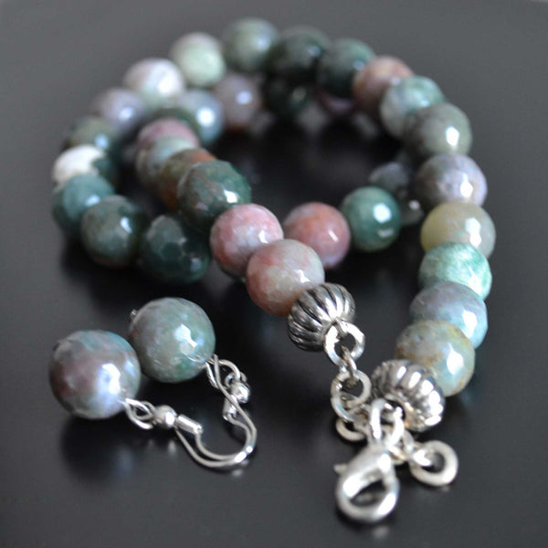 Wild Indian Agate Necklace Set - Naadz Jewelers