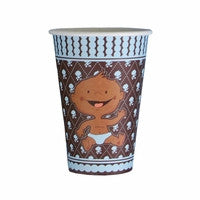 African American Modern Baby Boy Hot/Cold 12oz Cups - Dark Skin (8)