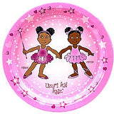 African American Ballerina Penny & Pepper Dinner Plates-8ct
