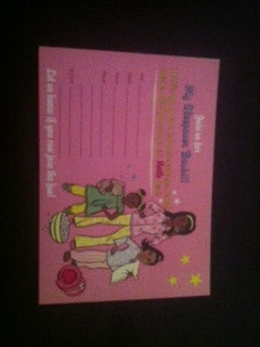 "Slumber Party ""Pre-Printed"" Invitations (1 ea)"