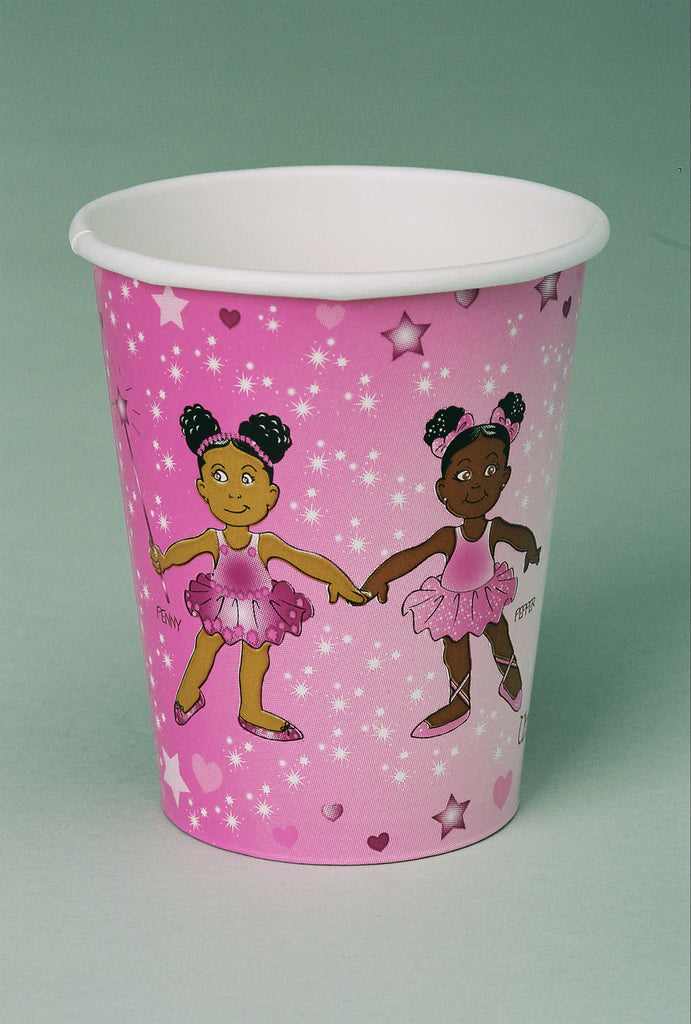 African American Ballerina Penny & Pepper Hot/Cold Cups-8ct