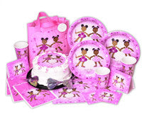 African American Ballerina Penny & Pepper Party Ultimate 16ct