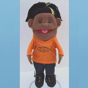 Puppet Girl with Orange Jersey