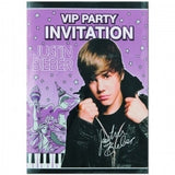 Justin Bieber Party Invitations