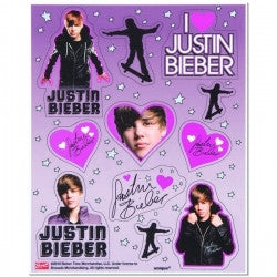 Justin Bieber Party Stickers