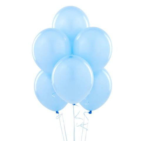 Balloons Light Blue Latex-12ct