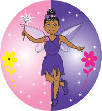 Fairy Pixie Button-Purple