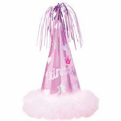 Princess Cone Hat with Maribou Fur-1pk
