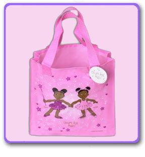African American Ballerina Penny & Pepper Tote Bag-1 ct