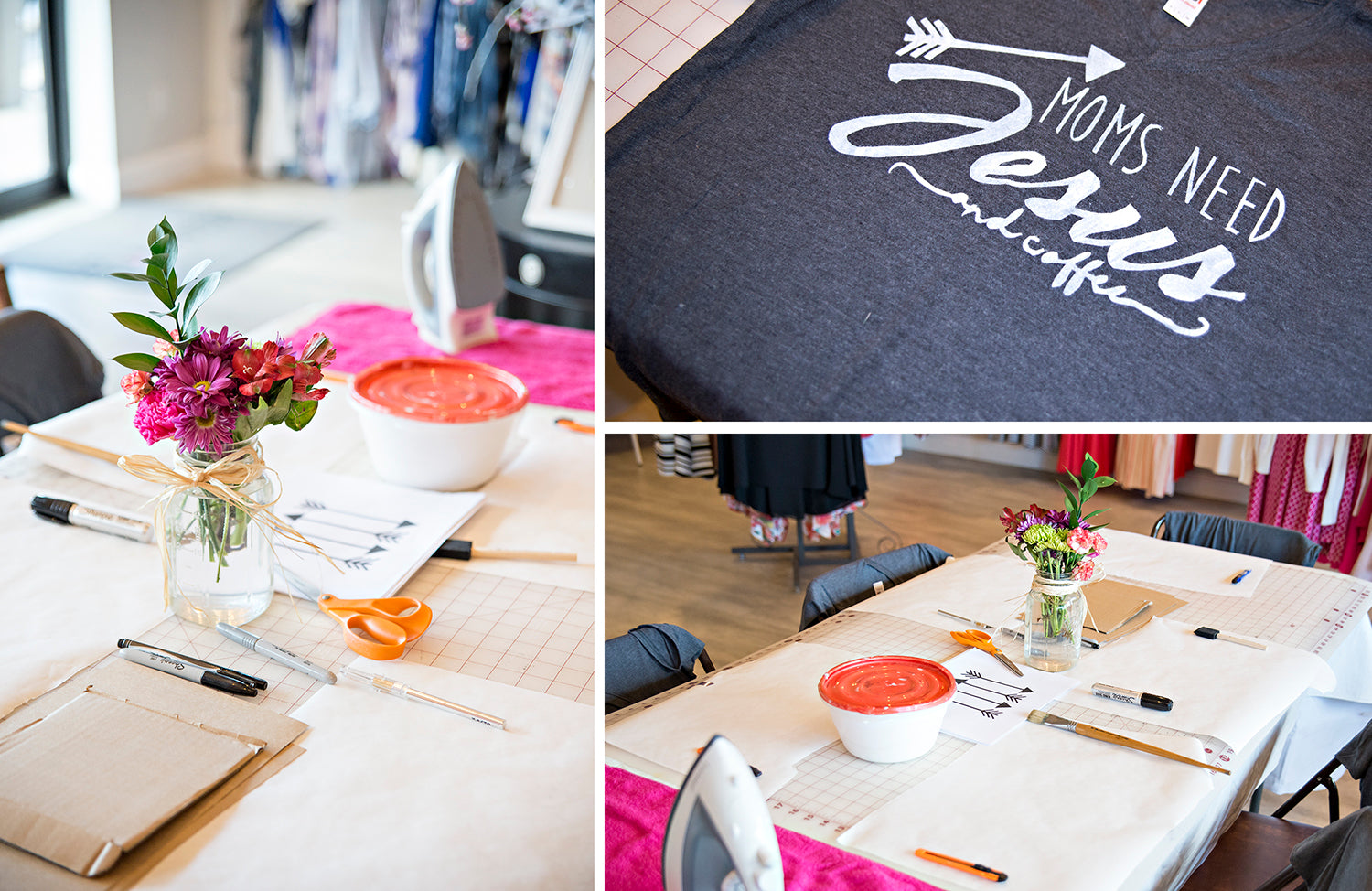 DIY Thursdays projects at Eccentrics Boutique. DIY Shirt Silkscreen Stencil